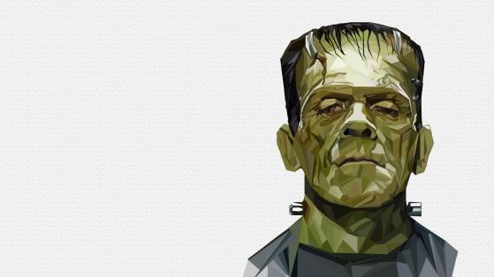 Polygonal Frankenstein Portrait